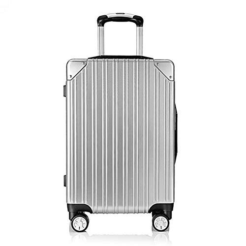 LGXWR Leichter Kofferraum-Koffer aus Aluminium-Rahmenkoffer (20/24 Zoll) (Farbe : Silber, größe : 20 inches)