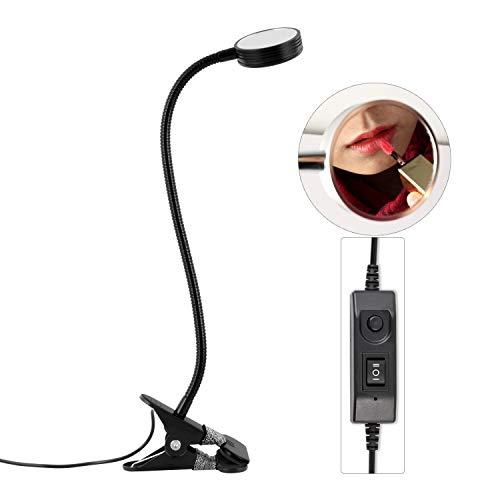 &Tischlampe LED-Schreibtischlampe, dimmbar Farbe Beauty Nail Make-up Spiegel Clip Tischlampe USB angetriebene Metall-Tischlampe Leselampe Nachttischlampe (Color : B)