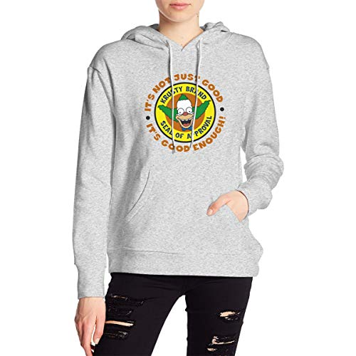 HsHdesign It's Good Enough Casual Hooded Sweatshirt with Kangaroo Pocket for Adult Womens Gray