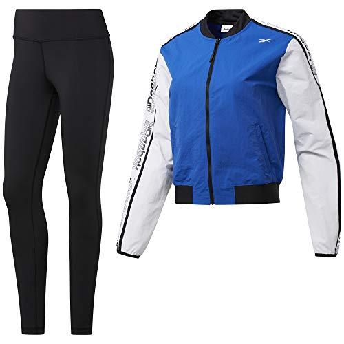 Reebok Te Myt Woven JKT TS Sportanzug für Damen M humblu (blau)