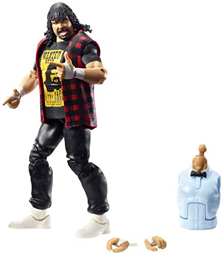 WWE Mick Foley Elite Collection Wrestlemania 22 Action Figure with Deluxe Articulation, Life-Like Detail, Authentic Ring Gear, Swappable Hands & Accessory