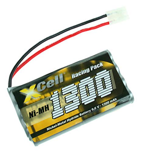 Gopacks Akku RC1300 (114363) Mignon 8er-Squarepack für RC-Pack AA Mignon 9,6V 1300mAh NI-MH Tamiya L4x2 Racing Pack für ferngesteuertes Auto Mattel L5477 - Tyco RC grün Accu Batterie Aku
