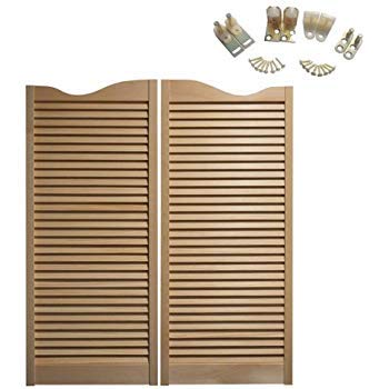 Cafe Doors Premade: Made from Sturdy Pine Wood-Cafe | Saloon Doors- Hardware Included (30