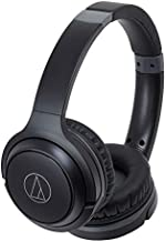 Audio-Technica ATH-S200BTBK Bluetooth Wireless On-Ear Headphones with Built-In Mic & Control, Black