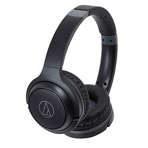 Audio-Technica ATH-S200BTBK Bluetooth Wireless On-Ear Headphones with Built-In ...