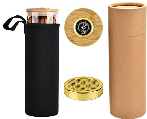 Portable Clear Cigar Case Sangle Sopffy Humidor Jar with Humidifier and Hygrometer, Your Travel Cigar Tube Experts (SS-3-01)