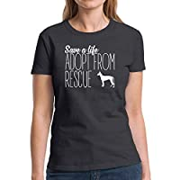 Eddany Save a life adopt from rescue Podenco Canario 2 - レディースTシャツ