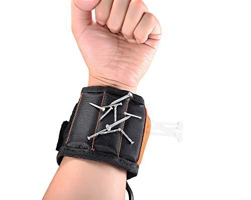 Magnetisches Armbandwerkzeug, Ein Verstellbares Magnetisches Armband Mit 10 Starken Magneten Zur Befestigung von Scheren, Schrauben, Bohrern und Nägeln, Ein Tolles Geschenk für Männer