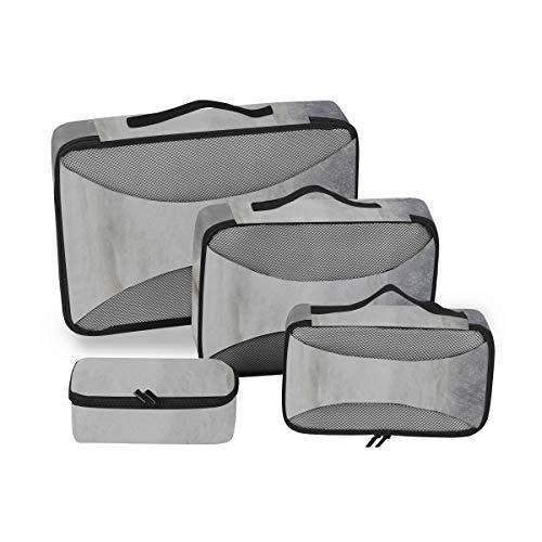Cube Organizer für Reisen Camargue Horse Packing Travel Organizer Cubes Travel Organizer Taschen für Gepäck 4-teiliger Koffer Organizer Leichte Gepäckaufbewahrungstasche