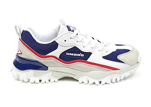 UMBRO Damen Bumpy Woman Leichtathletik-Schuh, Weiß, Blau, 36.5 EU