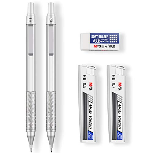 Mechanical Pencils, Jimmidda 0.5 and 0.7 Mechanical Pencils with...