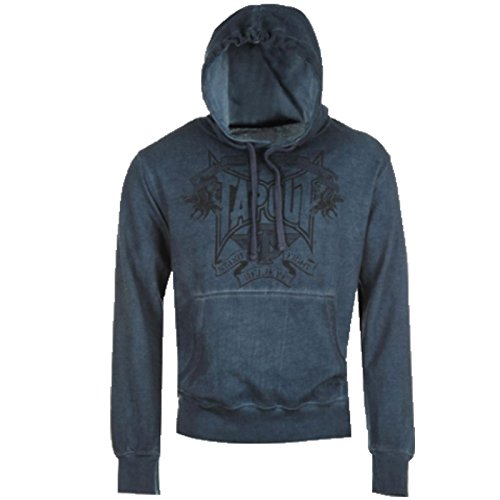 Tapout Herren Hoody Sweatshirt mit Kapuze, S-XXL (blau, XXL)