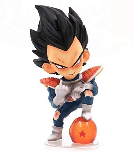 Anime Cadeaux Personnalité Statue Dragon Ball Z Super Saiyaman Vegeta Prince Moyen Doigt Taunt modèle PVC Action Figure Collection Jouets Y1002-Multicolore