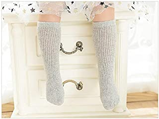 Lovely Socks 5 Pairs Children Cotton Socks Kids Spring and Summer Vertical Bar Mid Tube Socks (White) Newborn Sock (Color : Grey)