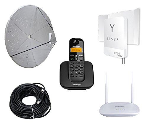 Kit Internet e Celular Rural Longa Distancia 60dbi 2g 3g 4g