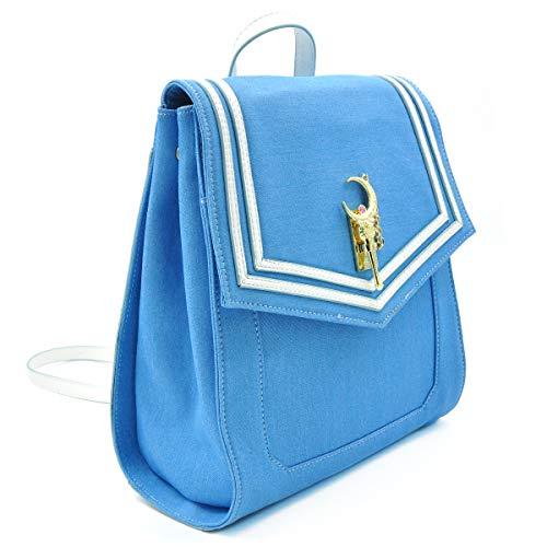 CoolChange Mochila de Sailor M, de Cuero Lacado, Azul