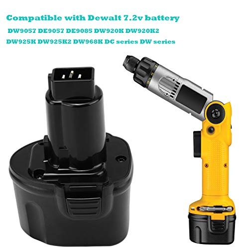 Upgraded 3.5Ah Replacement for Dewalt 7.2V Battery DW9057 DE9057 DE9085 DW920K DW920K2 DW925K DW925K2 DW968K,Ni-MH