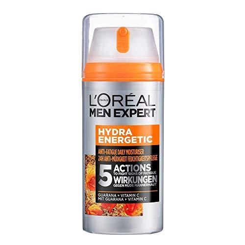 L\'Oréal Men Expert Gesichtspflege für Männer, Feuchtigkeitscreme mit Guarana und Vitamin C, Hydra Energy Feuchtigkeitspflege 24H Anti-Müdigkeit XXL, 1 x 100 ml