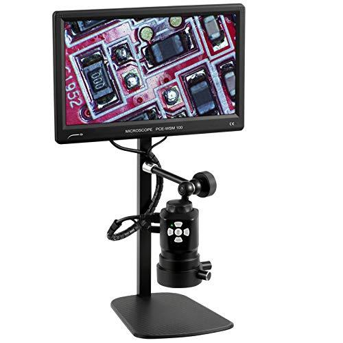 PCE Instruments Labormikroskop PCE-WMS 100 mit SD-Speicher/USB Schnittstelle/HDMI Display/Schwenkarm / 220-fache Vergrößerung/Full-HD Mikroskop