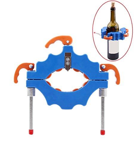 Fles/Glazen Snijder, voor flessen van 43 tot 103 mm, Sterke Duurzame Kit voor DIY Creatieve Geschenken Kaarsenhouder Ornamenten Hergebruik Bier Wijnfles, Leuke manier om te Recycleren (Blauw)
