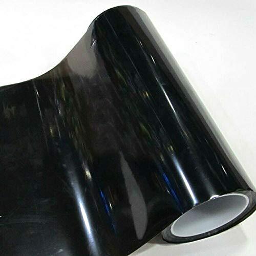 (5,89€/m2) Scheinwerfer Tönungsfolie Tief Schwarz (Rückleuchten Blinker Nebelleuchten) 20 x 30 cm