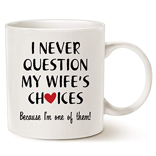 MAUAG Christmas Gifts Funny Quote Coffee Mug for Husband Valentine's Day Gifts,...