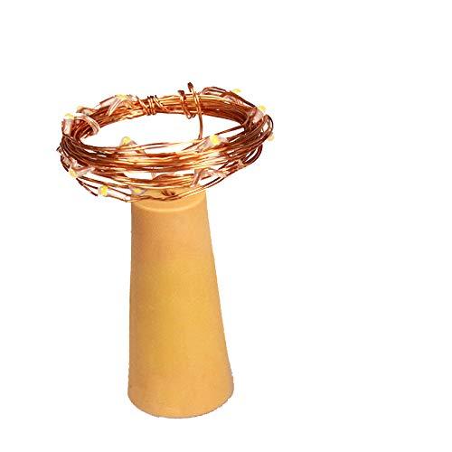 JYKING Flaschenlichter Lichterketten Nacht Licht Weinflasche Flaschenlicht Kork Flaschen Licht LED Lichter Lichterkette DIY Party Hochzeit Stimmung Lichter USB-Lade 1 Meter 10 Lichter 22 * 47 * 15MM