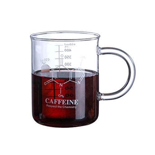 advancethy Vaso de cristal con asa, taza medidora, taza de vaso graduado (450 ml)