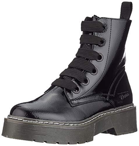 TOM TAILOR DENIM für Frauen Schuhe Plateau-Stiefel in Lackleder-Optik Black, 39