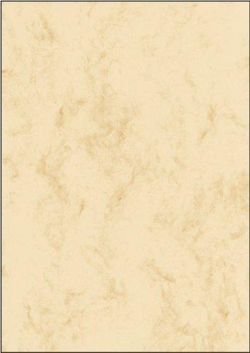 SIGEL DP397 Marmorierter Karton / Marmor-Papier beige, A4, 50 Blatt, Motiv beidseitig, 200 g - weitere Farben
