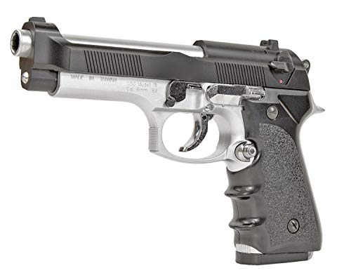Nick and Ben Softair-Pistole XXL 22 cm ABS Modell 18 Federdruck Spielzeug-Waffe max. 0,5 Joule Bicolor Set mit 1000 Kugeln 6 mm Munition