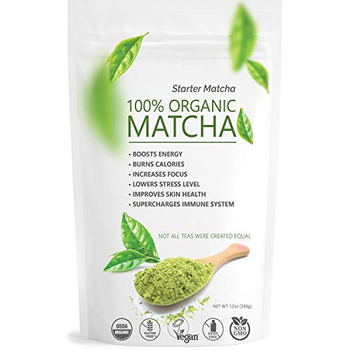 Starter Matcha Pure Organic Green Tea Powder - Culinary Grade 12oz