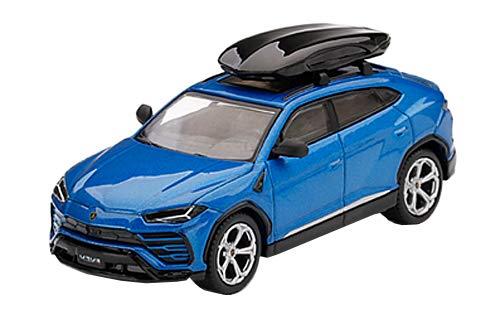 Mini GT MGT00172-R Lambo Urus Blue Eleos mit Dachbox, Rechtslenker, Maßstab 1:64, Druckguss-Modell