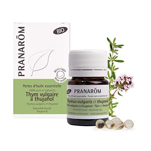 Pranarôm - Perles d'Huile Essentielle d'Origan Vulgaire Sommité Fleurie Bio - 60 Perles