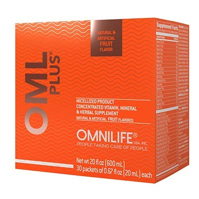 Omnilife OML Plus Supreme OmniPlus, Box w/30 Packets 600ml, Fruit(FRUTA)