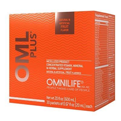 Omnilife OML Plus Supreme OmniPlus, Box w/30 Packets 600ml, Fruit(FRUTA)