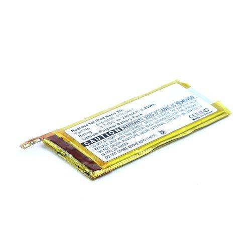 subtel Batería de Repuesto 616-0406,616-0467,P11G73-01-S01 para Apple iPod Nano 5 Gen. A1320 Battery 240mAh Pila