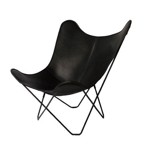 cuero キュエロ BKF Chair BKFチェア Butterfly Chair バタフライチェア カラー:ブラックレザー スチールフレーム ベジタブルタンニンなめし革