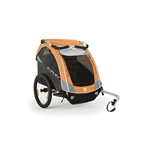 Burley Fahrrad Kinder Anhänger D`Lite inkl. Walking Set wasserabweisend, D`LITE, Farbe orange