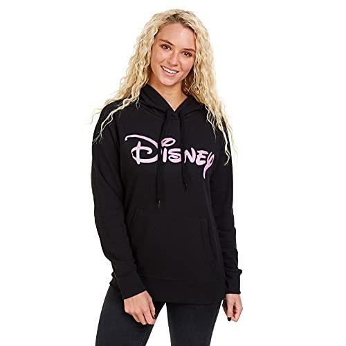 Disney Damen Logo Kapuzenpullover, Schwarz (Black Blk), 38 (Herstellergröße: MEDIUM)