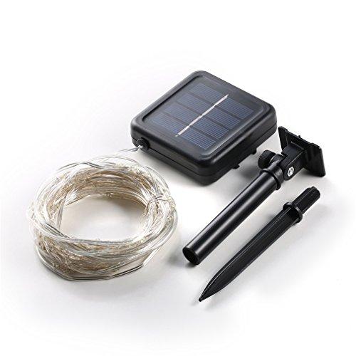 Preisvergleich Produktbild Lichterkette Solar-Lichterkette 200LED 2 Meter Warmweiß LED Wasserdicht,  Solar Kupferdraht für Garten Außen Party weihnachten Camera