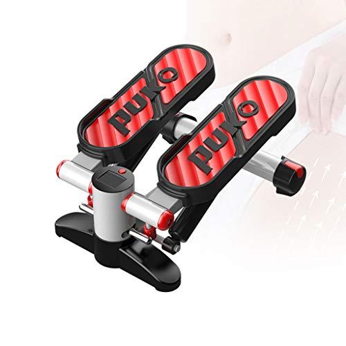 JIAN Mini Stepper Fitness Stepper voor thuis, stepper voor thuis, draaistepper, sidestepper, geavanceerde up-down-stepper met multifunctioneel display hometrainer weerstand