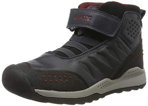 Geox Jungen J TERAM Boy B ABX A Hohe Sneaker, Blau (Navy/Dk Red C4244), 36 EU