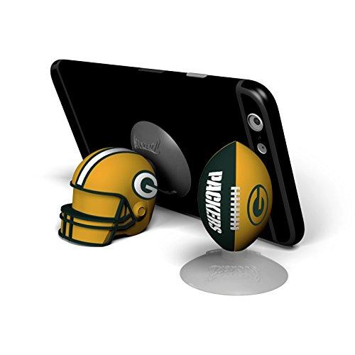 NFL Sports Suckerz Green Bay Packers Football & Helmet Phone Stand