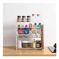キッチン収納ラック、スパイスジャーのための4層スパイスラック、缶、ボトルなど