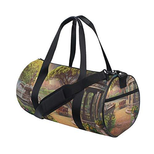 Eslifey Sunshine Garden Painting Fitness Sports Bags Bolsa de viaje Bolsa de viaje para hombre y mujer