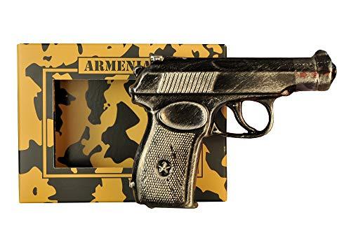 armenischer Brandy Pistole in detailgetreuer Keramik Flasche, 40% Alk, 5 Jahre gereift, 0,1L