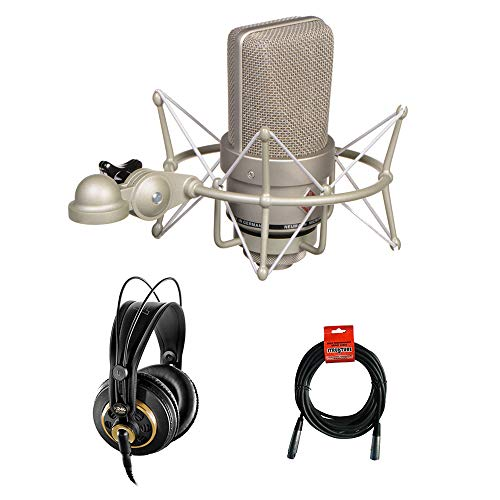 Neumann TLM 103 Condenser Microphone Mono Set (Nickel) with AKG K 240 Studio Pro Headphones & XLR Cable Bundle