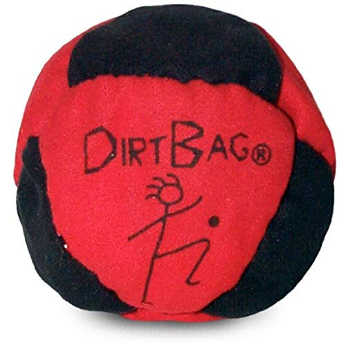 World Footbag Dirtbag Hacky Sack Footbag, Red/Black