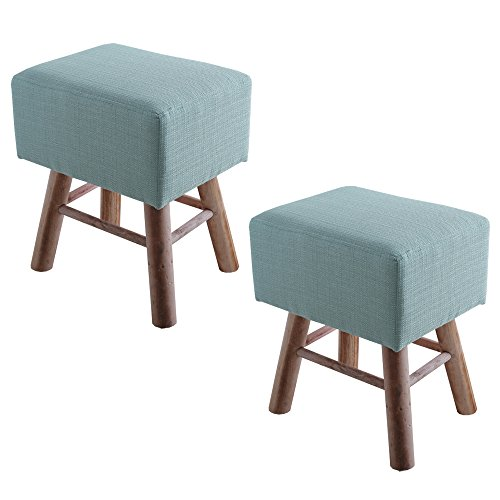 UNE BONNE(ウネボネ) スツール 同カラー2脚セット 木製 北欧 椅子 イス チェア オットマン 1人掛け ブルー